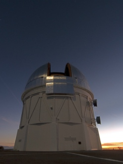 The Blanco telescope in Chile, new home of DECam, or Dark Energy Camera. Credit: T. Abbott and NOAO/AURA/NSF.